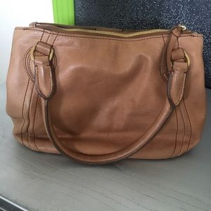 Buttery leather convertible bag